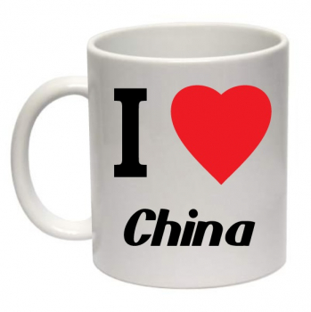 Tasse I Love China Kaffeebecher