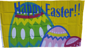 Flagge Fahne Happy Easter Ostereier Osterfahne