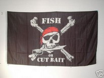 Flagge Fahne Pirat Fish or Cut Bait