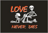 Flagge Fahne Love never dies