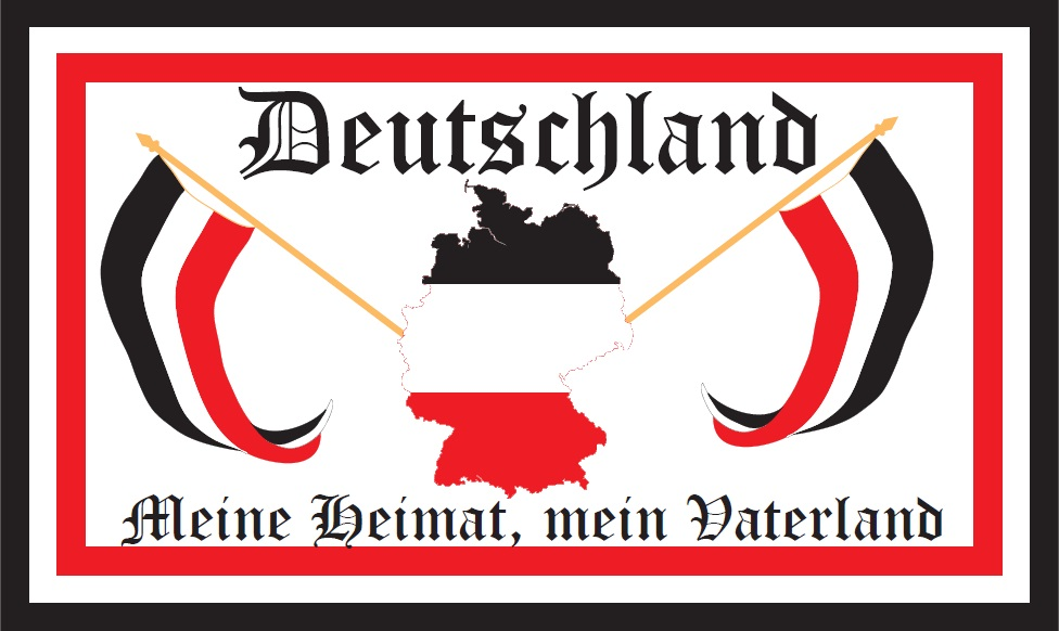 flaggenparadies flagge fahne deutschland meine heimat mein vaterland deutsches reich. Black Bedroom Furniture Sets. Home Design Ideas