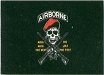 Flagge Fahne Pirat Airborne mess with the best  90x150 cm