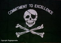 Flagge Fahne Pirat Commitement to Excellence  90x150 cm
