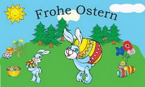 Flagge Fahne Frohe Ostern2  90x150 cm